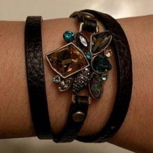 NWT Sunset On The Seine Leather Wrap Bracelet